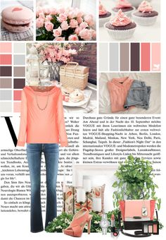 """""""Just Peachy"""" by gailschurman on Polyvore"""
