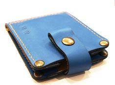 Check out this item in my Etsy shop https://www.etsy.com/listing/285496229/wallet-with-money-clip-in-blue-cowhide