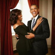 First Lady Michelle Obama and President Barack Obama First Ladies like HUGS!, too.