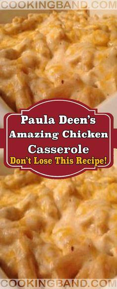 Paula Deen's Amazing Chicken Casserole Baked Chicken Recipes, Crockpot Recipes, Turkey Recipes, New Recipes, Cooking Recipes, Favorite Recipes, Recipies, Yummy Recipes, Cooking Tips