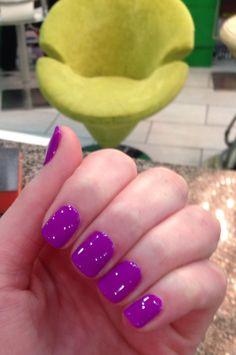 Purple gel nails!