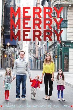 Adorable, simple family photo. Now, how did they find an empty street in NYC?