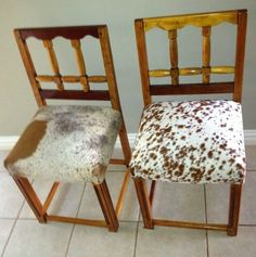 Recovered Dining chairs by us at Hides of Africa