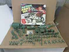 A classic playset of little green army guys by PP (Processed Plastics) corporation.