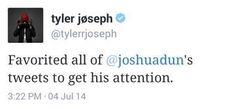Tyler Joseph and Josh Dun // Twitter // twenty one pilots