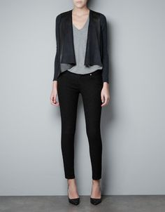 FAUX LEATHER CARDIGAN - Blazers - Woman - ZARA United States