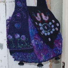 Made by my friend Brigitte Eertink felted bag