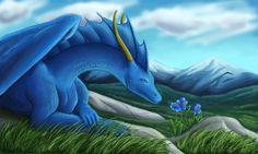 Blue Flowers by *WolfCryi on deviantART