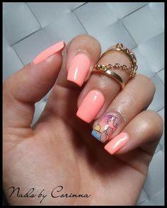 #summer #neon #coral #bikini #bikinibody #sunset #nailart #square #nailshape #gelpolish #ημιμόνιμο #nails #byCorinna #Cnailedit