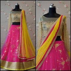 Got Bored of the routine Half sarees Anarkali, Lehenga, Hyderabad, Wedding Dinner, Half Saree, Indian Outfits, Teja Sarees, Cool Outfits, Fashion Dresses