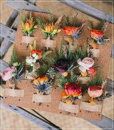 rustic sophisticated wedding corsages for courthouse wedding ideas.  These look awesome for winter.