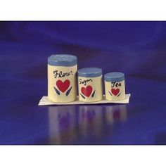 Handpainted Kitchen Canister Set