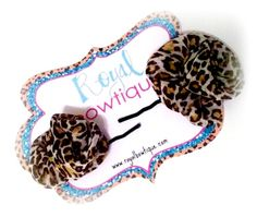 JUST THE RiGHT AMOUNT OF LEOPARD BY ROYAL BOWTiQUE!!   {www.facebook.com/royalbowtique}