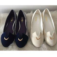 Navy/White Sailor Moon Luna Flattie Shoes SP165340 Sailor Moon Girls, Sailor Moon Luna, Sailor Moon Clothes, Pretty Shoes, Cute Shoes, Sailor Moon Wedding, Sailor Moon Merchandise, Cosplay, Sailor Moon Wallpaper