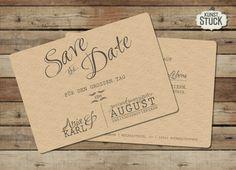"""Einladungskarten - Save-the-Date-Karte """"Typo Love"""" - ein Designerstück von kunstueck bei DaWanda"""