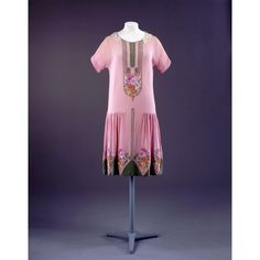1920s Fashion Pink Dress