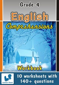 GRADE-4-ENGLISH-COMPREHENSIONS-WORKBOOK This workbook contains printable worksheets on Comprehensions for Grade 4 students.  There are total 10 worksheets with 140+ questions.  Pattern of questions : Multiple Choice Questions, Fill in the blanks, True and false    PRICE :- RS.149.00