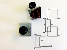 The Form of Form stamps, design by R2 | Trienal de Arquitectura de Lisboa