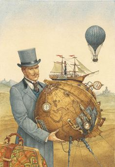 steampunk-art — atmos-sphere:   by Lev Kaplan, illustration for...