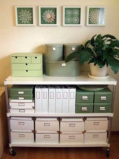 Home #office #organization #green
