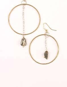 Image of Anting Hematite Earrings