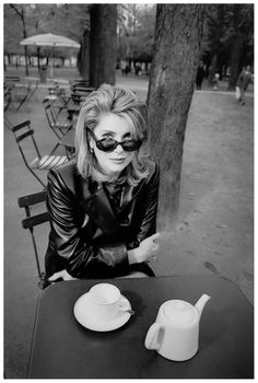 Portrait of Catherine Deneuve by Jeanloup Sieff, 1997
