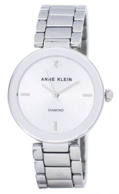 Features: Metal Case Alloy Bracelet Quartz Movement Mineral Crystal Silver Dial Analog Display Diamond At 12 O' clock Position Pull/Push Crown Jewelry Clasp Water Resistance Approximate Case Diameter: Approximate Case Thickness: Anne Klein Watch, Authentic Watches, Jewelry Clasps, Minerals, Quartz, Crystals, Clock, Diamond, Metal