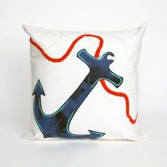 Liora Manne Anchor Indoor / Outdoor Throw Pillow - 7SB1S414412