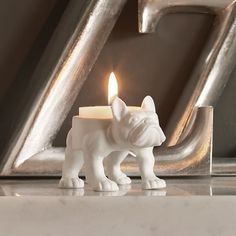 Bertie Bulldog Tea Light Holder