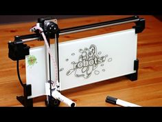 iBoardbot. The internet controlled whiteboard robot - YouTube