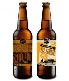 Deep Ellum Double Brown Stout and Backslider Blonde