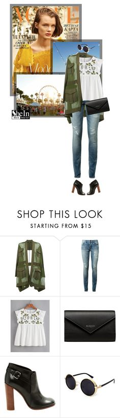 """""""Senza titolo #1180"""" by itsevaa ❤ liked on Polyvore featuring Balmain, Yves Saint Laurent, Balenciaga and CÉLINE"""