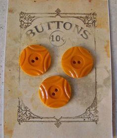Butterscotch Bakelite Buttons