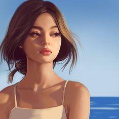 Lily Maymac by Digital Art Girl, Digital Portrait, Portrait Art, Girl Cartoon, Cartoon Art, Lily Maymac, Girly M, Cute Girl Drawing, Beautiful Girl Drawing