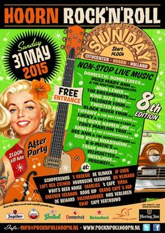 Hoorn Rock'N'Roll. 31-May-2015. Holland.