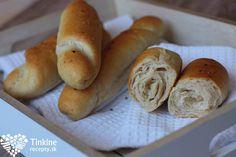 Biele špaldové rohlíky Hot Dog Buns, Hot Dogs, Bagel, Bread, Cooking, Fit, Kitchen, Kochen, Breads