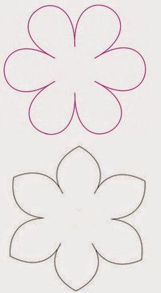 Molde De Flores Grandes   Plantillas Para Flores De Papel Felt Flower Template, Paper Flower Patterns, Butterfly Template, Felt Patterns, Paper Flowers Diy, Paper Roses, Felt Flowers, Flower Crafts, Fabric Flowers