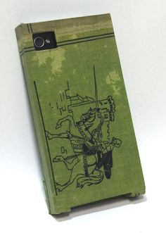 iPhone 4 Case made with recycled book cloth by BookGurl on Etsy