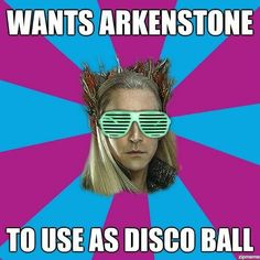 This is the only way Thranduil can throw the ultimate party.