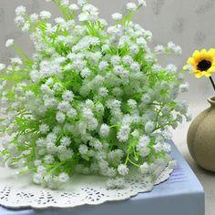 $5.25 Estilo fresco um buquê de Floral Branco Pouca Decoração Flor Artificial