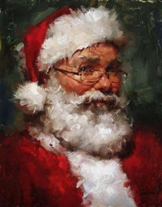 Santa Painting by Meadow Gist
