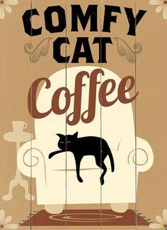 Le café d'un chat à l'aise - Comfy Cat Coffee Wall Decor I Love Coffee, Coffee Art, My Coffee, Coffee Shop, Crazy Cat Lady, Crazy Cats, I Love Cats, Cat Cafe, Kitty Cafe