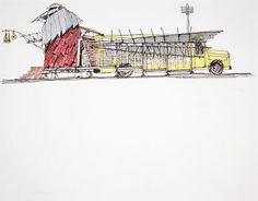 samuel mockbee drawings   Preliminary Sketch: Fabrications - Full Scale (Hale County, Alabama)