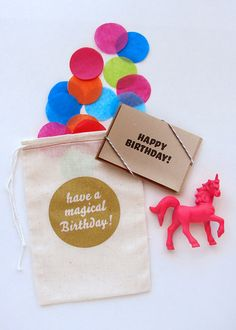 Unicorn Birthday Card Pink by PaperBeatsRock1 on Etsy, $13.00