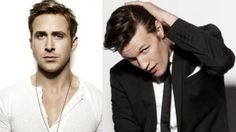 Ryan Gosling and Matt Smith are making a movie together! -----------> but wait, is this his last season? And aren't we in the middle of the 50th anniversary movie, and why oh why did he shave his head? oooh so many questions?!