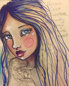 A quick little girl sketch in my #artjournal this eve. Still amongst boxes and…