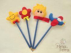 Ponteiras de lápis do Kit Pequeno Príncipe by Mimos e Feltros, via Flickr