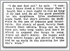 "Interview with 102-year-old Sam Cox, published in the Sunday Herald newspaper (Boston, Massachusetts), 28 August 1921. Read more on the GenealogyBank blog: ""Great Advice from an Interview with a Very Old Man."" http://blog.genealogybank.com/great-advice-from-an-interview-with-a-very-old-man.html"