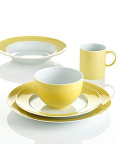 THOMAS by Rosenthal Dinnerware, Sunny Day Yellow Collection