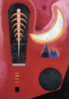 Wassily Kandinsky; 'Loosely in Red; Loses Im Rot', 1925